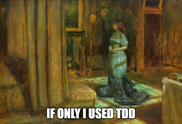 meme; painting of woman; If only I used TDD